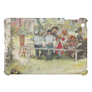 カールラーション著大きい樺の木の下の朝食 iPad MINI カバー