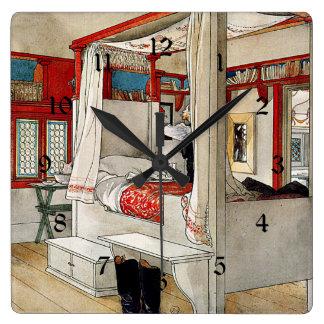 カールラーション-お父さんの部屋 スクエア壁時計