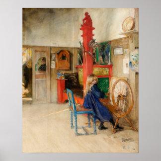 カールラーション: 糸車 ポスター