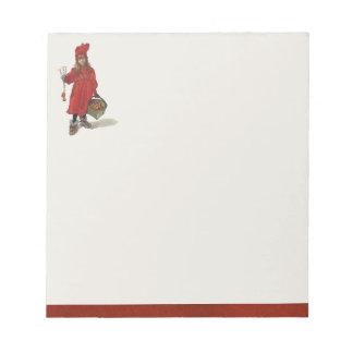 カールラーションBritaの小さいスウェーデンの女の子 ノートパッド