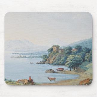 カールルートビッヒHackert著城が付いているannecy湖 マウスパッド