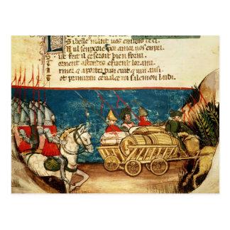 カール大帝および交通機関の軍隊 ポストカード