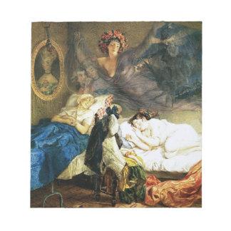 カール著祖母そして孫娘の夢 ノートパッド