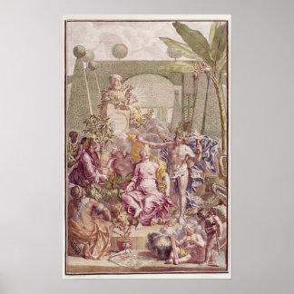カール著「Hortus Cliffortianus」のFrontispiece ポスター