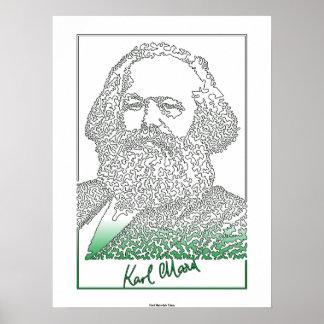 カール・マルクス。 ドイツの哲学者および経済学者[003] ポスター