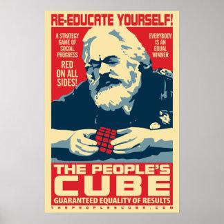カール・マルクス-人々の立方体: OHPポスター ポスター
