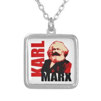 カール・マルクス、社会主義者及び共産主義者 シルバープレートネックレス