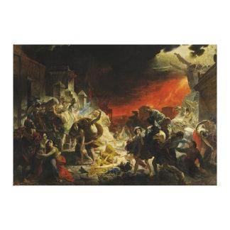 カールBriullov Vesuvius著ポンペイの最後の日 キャンバスプリント