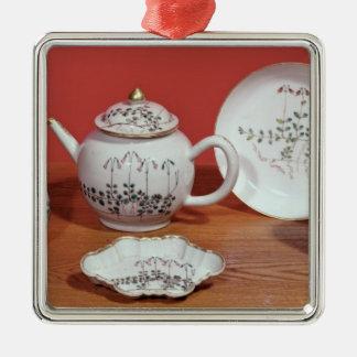 カールLinnaeusに示される茶サービス メタルオーナメント