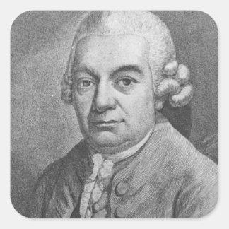 カールPhilippエマニュエルBach (1714-88年)のポートレート(e スクエアシール