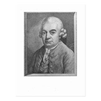 カールPhilippエマニュエルBach (1714-88年)のポートレート(e ポストカード