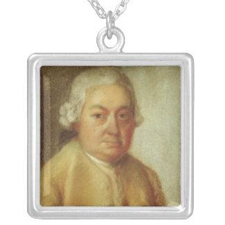 カールPhilippエマニュエルBach、c.1780のポートレート シルバープレートネックレス