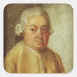 カールPhilippエマニュエルBach、c.1780のポートレート スクエアシール