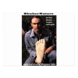 カールShuker先生及びビッグフットのプリントは- ShukerNatureを投げました ポストカード
