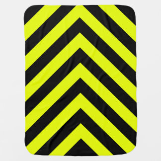 カーレースの黒くおよび黄色の矢F1の競争の危険 ベビー ブランケット