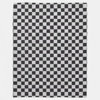 カーレース/チェスパターン + あなたのbackgr。 及びアイディア フリースブランケット