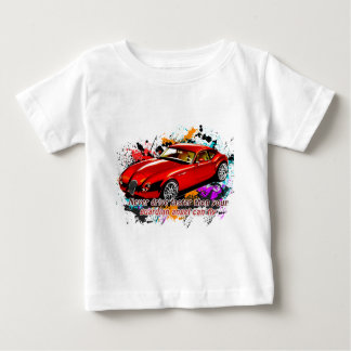 カーレース ベビーTシャツ