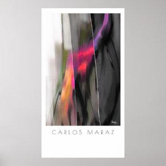 カーロスMarazの芸術のプリントによる抽象的な絵画 ポスター