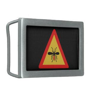 カ、交通標識、フィンランドの用心して下さい 長方形ベルトバックル