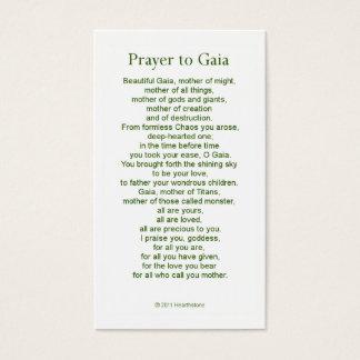 ガイアの祈りの言葉カード 名刺