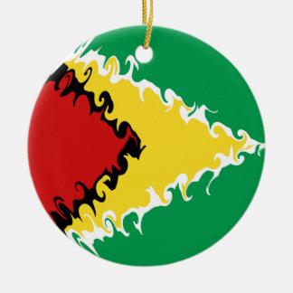 ガイアナのすごい旗 セラミックオーナメント