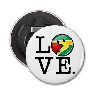 ガイアナのにこやかなGuyanese旗からの愛 栓抜き