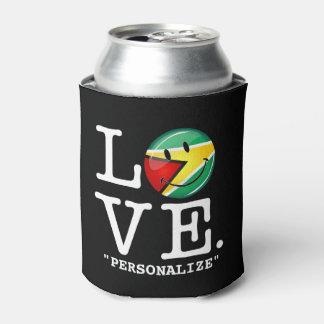 ガイアナのにこやかなGuyanese旗からの愛 缶クーラー