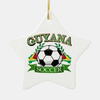 ガイアナのサッカーボールのデザイン セラミックオーナメント