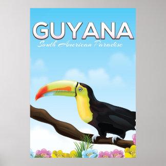 ガイアナの南アフリカの楽園旅行ポスター ポスター