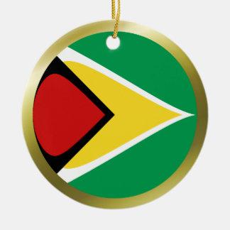 ガイアナの旗のオーナメント セラミックオーナメント