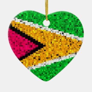 ガイアナの旗のグリッターのオーナメント セラミックオーナメント