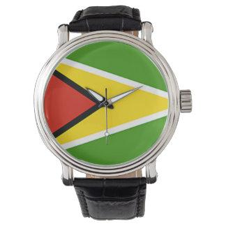 ガイアナの旗の腕時計 腕時計