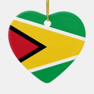 ガイアナの旗 セラミックオーナメント