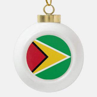 ガイアナの旗 セラミックボールオーナメント