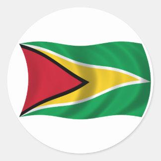 ガイアナの旗 ラウンドシール