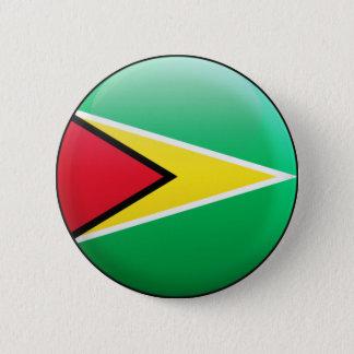 ガイアナの旗 5.7CM 丸型バッジ