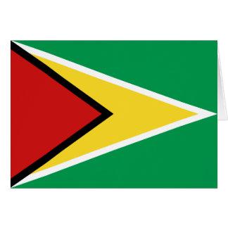 ガイアナの旗Notecard カード