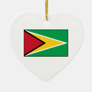 ガイアナ- Guyanese旗 セラミックオーナメント