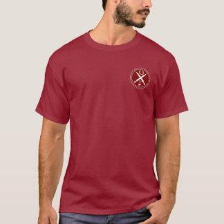 ガイウス・ユリウス・カエサルのあずき色及び白いシールのワイシャツ Tシャツ