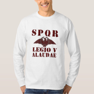 ガイウス・ユリウス・カエサル第5 Alaudaeローマ軍隊のワシのワイシャツ Tシャツ