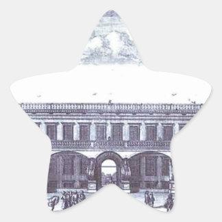 ガガーリンのモスクワの大邸宅の眺め 星シール