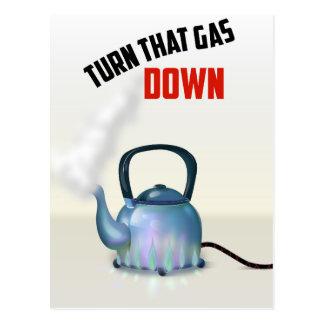 ガスのヴィンテージポスターを回して下さい ポストカード