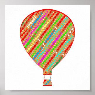 ガスの気球のカラフルなグラフィックアート: 楽しむな表示 ポスター
