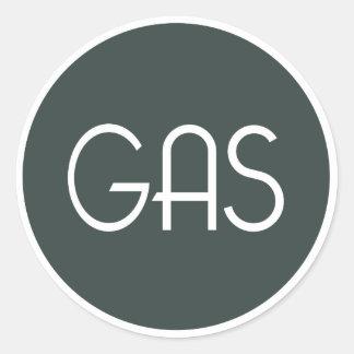 ガスの録音および混合装置のステッカー ラウンドシール