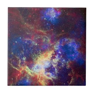 ガスの雲の彫刻を形作るタランチュラの星雲の星 タイル