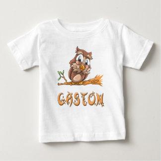ガストンのフクロウのベビーのTシャツ ベビーTシャツ