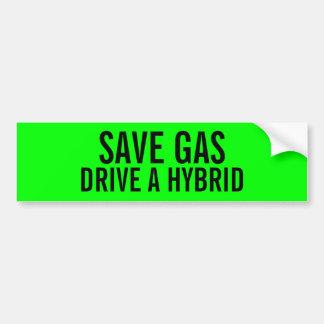 ガスドライブを雑種のバンパーステッカー救って下さい バンパーステッカー
