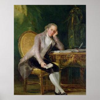 ガスパルMelchor de Jovellanos 1797-98年(canvの油 ポスター