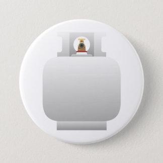 ガスポンプボタン 7.6CM 丸型バッジ