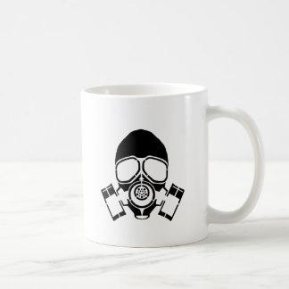 ガスマスクのステンシルロゴ コーヒーマグカップ